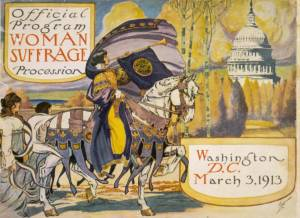 Image of Official Program for Woman Suffrage Procession 1913