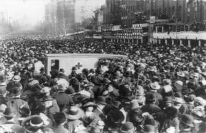 Red Cross Collecting Injured Suffragists