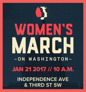 Image of Official Poster for Women's March on Washington, January 21, 2017