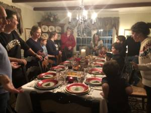 Image of family at Christmas dinner