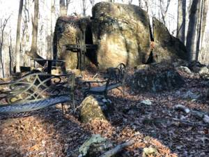 Rocks in outdoor scene