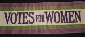 Vote For Women Banner